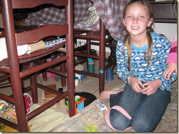 one of the many forts with furntiure