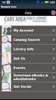 Screenshot of Cary Area Library