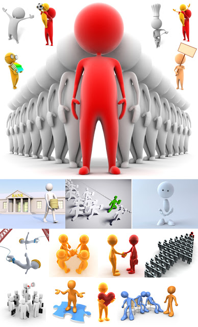 3D Stock image people