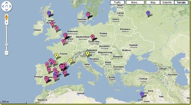 influenza suina google maps