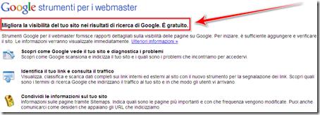 visibilità sito blog strumenti webmaster google
