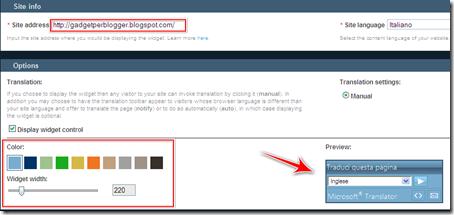 come inserire bing traduttore automatico blog blogger