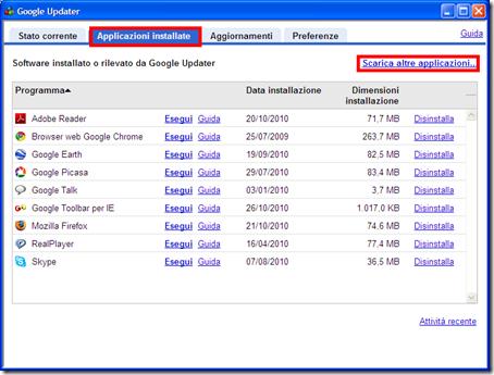come scaricare installare aggiornare google pack updater