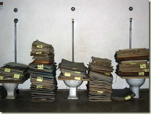 Photograph of rain soaked records found by Ancestry.com
