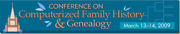 Conference on Computerized Family History and Genealogy masthead