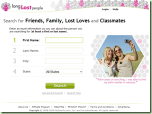 Long Lost People website