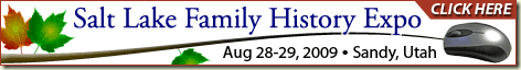 Click to link to the web site for the Salt Lake Family History Expo