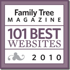 Ancestry Insider is one of the 101 Best Websites 2010