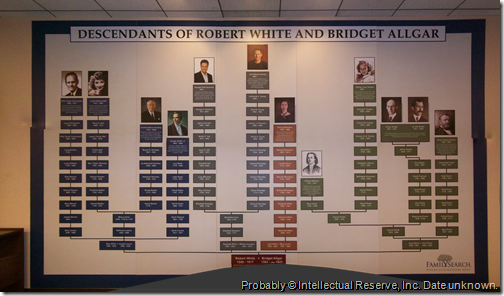 Descendants of Robert White and Bridget Allgar