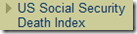 US Social Security Death Index