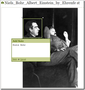 Ancestry.com supports photo tags, but calls them notes