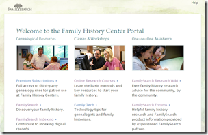 The Family History Center Portal