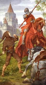 Parsifal im Kampf mit dem roten Ritter (Schloss Neuschwanstein)