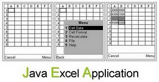 exceljava2 Microsoft Excel application in mobile Java