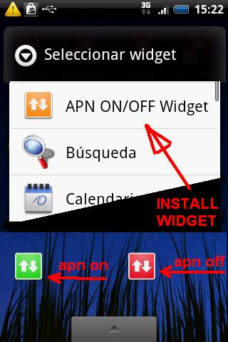 APN widget Free Download Android Applications, Android Apps: APN on off Widget
