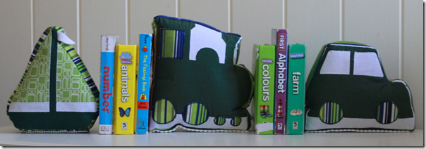 Fabric book ends