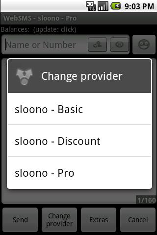 WebSMS: sloono Connector