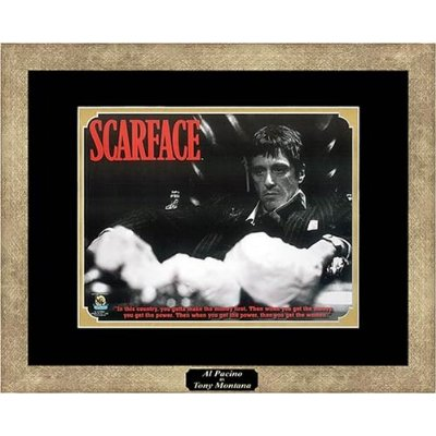 scarface framed movie poster al pacino tony montana 4 ebay