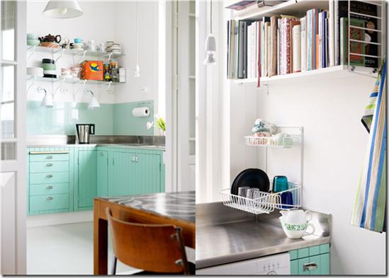 Casa de Valantina - via Sasa Antica - cozinha azul claro