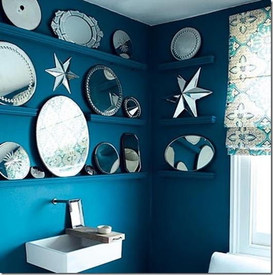 Casa de Valentina - via Brabourne Farm - espelhos no lavabo