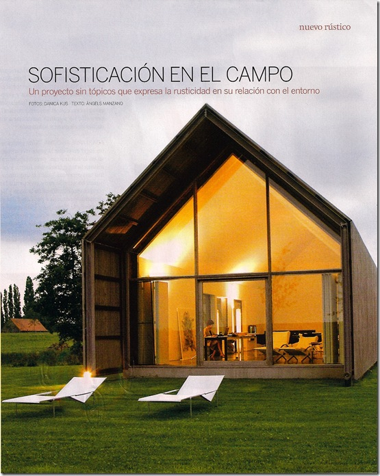 Casa de Valentina - via Arquitectura Y Diseño - casa de campo na Bélgina