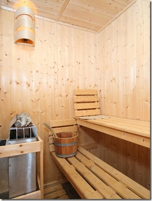 sauna. Projeto de Clifford Nicholls