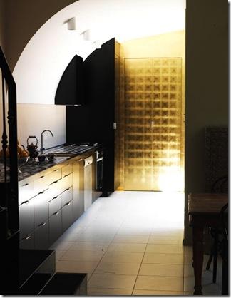 Cozinha com armário fechada