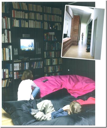 Uma sala de TV Moderna. Via Stilvoll Wohnen