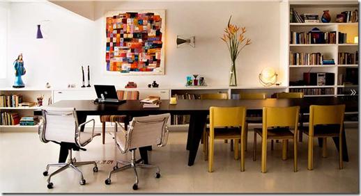 Casa de Valentina - Alice Martins e Flávio Butti - mesa de jantar e de trabalho