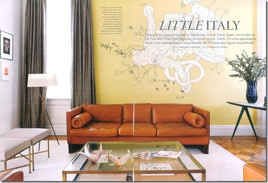 Casa de Valentina - uma casa ilatiana em Manhattan - foto de Manolo Yllera - sala de estar