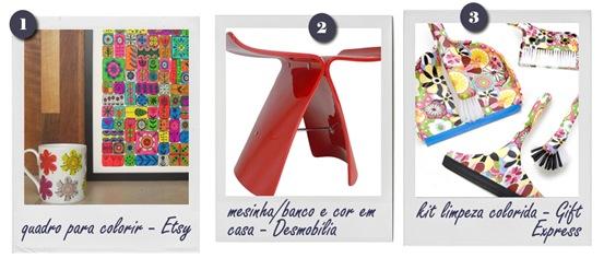 WishList Casa de Valentina - objetos coloridos