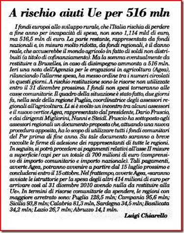 ITALIA OGGI 18giu10