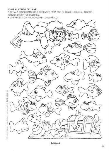 Dibujos De Animales Marino 'S Para Colorear
