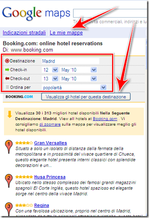prenotare hotel internet madrid