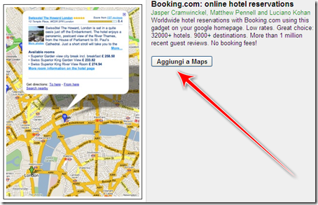 prenotare hotel online maps londra