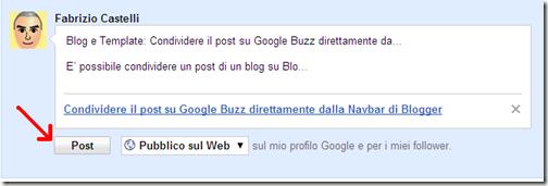 condivisione post navbar buzz