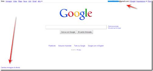 come inserire immagine homepage google