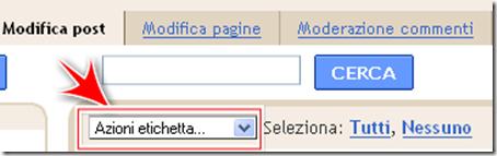 come applicare eliminare etichetta blogger