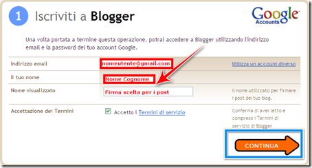 fare iscrizione gratuita blog