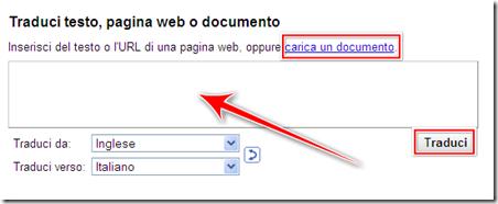 come tradurre automaticamente italiano inglese testo documento sito web