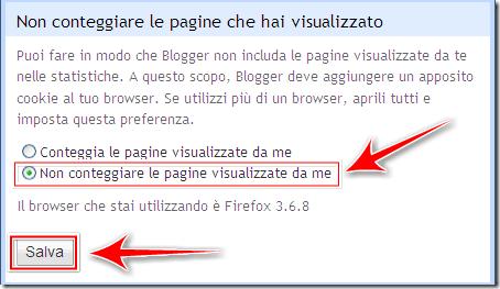 come non contare pagine visitate autore blogger statistiche