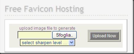 come convertire generare hostig icona favicon personalizzata blogger