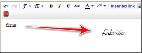 come mettere firma automatica post blogger