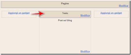 come mettere messaggio benvenuto solo home page blog