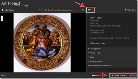 come vedere online quadri internet galleria uffizi firenze art project google