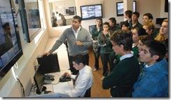 Roberto Ferreira con Alumnos del 3º Año de la Escuela Siglo XXI