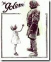 Cartel promocional de la película alemana «El Golem» (1920), de Paul Wegener
