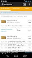 Screenshot of MyAccount Mobile Viseca