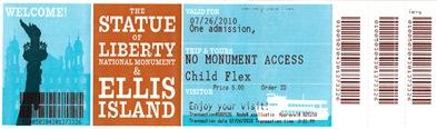 Ferry Ticket to Ellis Island-Sheva Apelbaum