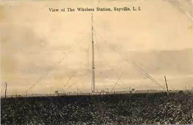 Sayville Wireless Station Postcard-Sheva Apelbaum